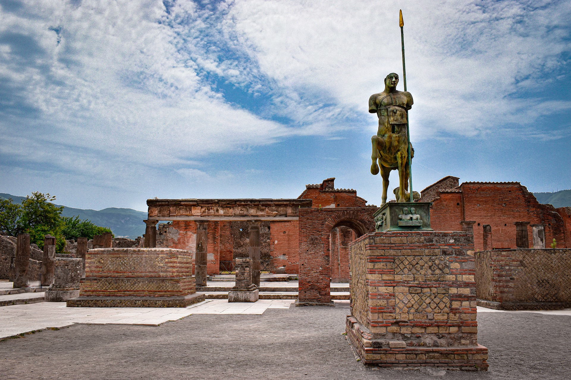 A statue of Pompeyi the Great in Ancient Rome