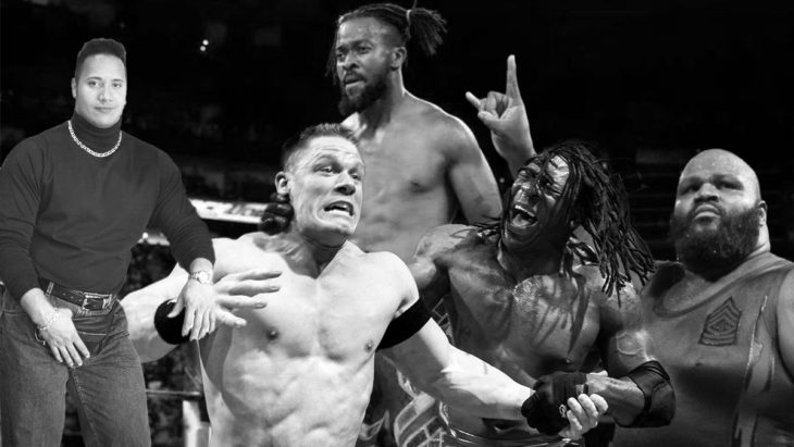 Collage of all 4 Black WWE Champions