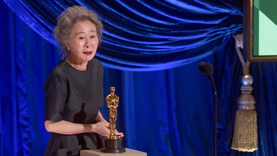 Youn Yuh-jung at the 93rd annual academy awards