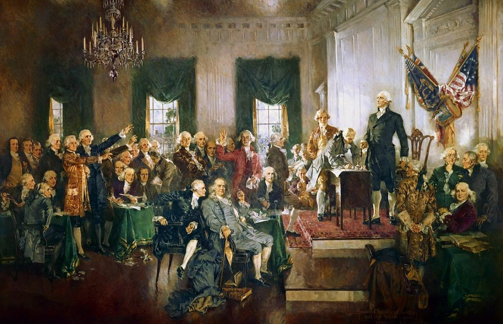 Painting of the ratification at the constitutional convention