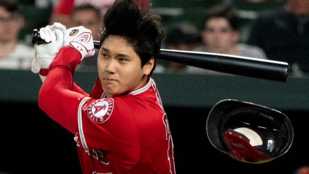 Shohei Ohtani hitting a home run in 2019